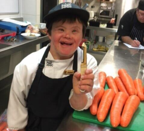 Maryanne's work ethic and sense of humour a hit in hotel kitchen