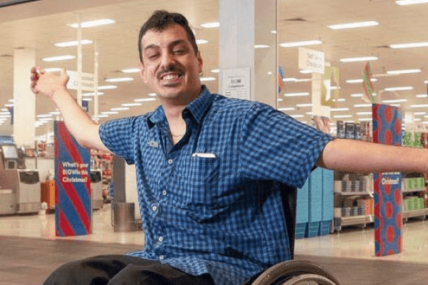 Nick, who lives with Non-Hodgkin's Lymphoma and Axonal Neuropathy, lands his first job at Big W