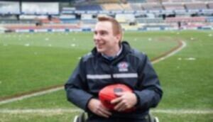 Steve smiling at his AFL job