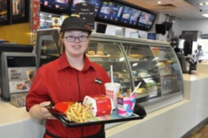 Darcy, born with Down Syndrome, shines bright at McDonalds