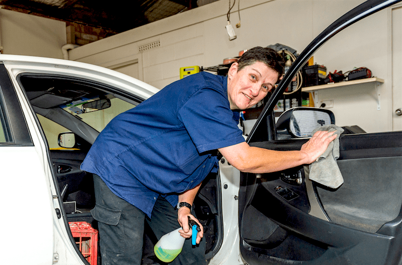 Carol, who lives with multiple disabilities, excels in management role at Port Lincoln car wash
