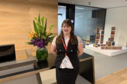Amber, who lives with depression and anxiety, shines at Sydney accounting firm